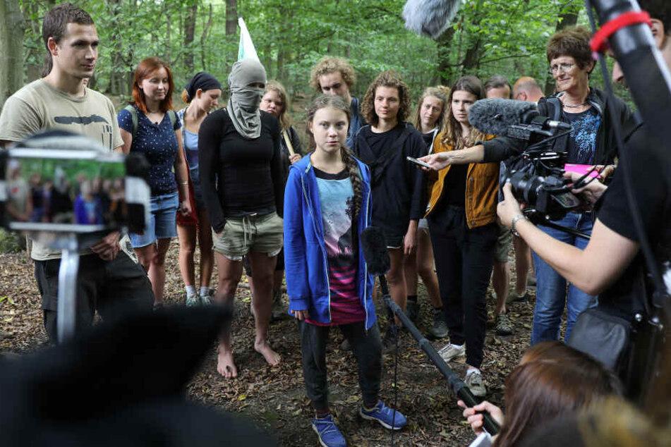 Greta Thunberg besuchte auch die Aktivisten im Hambacher Forst.