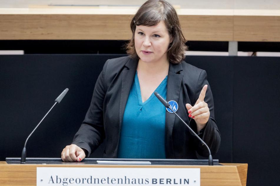 Berlins Grünen-Fraktionschefin Antje Kapek (42) kritisierte den Ex-Abgeordneten Andreas Wild für sein Verhalten scharf. (Archiv)