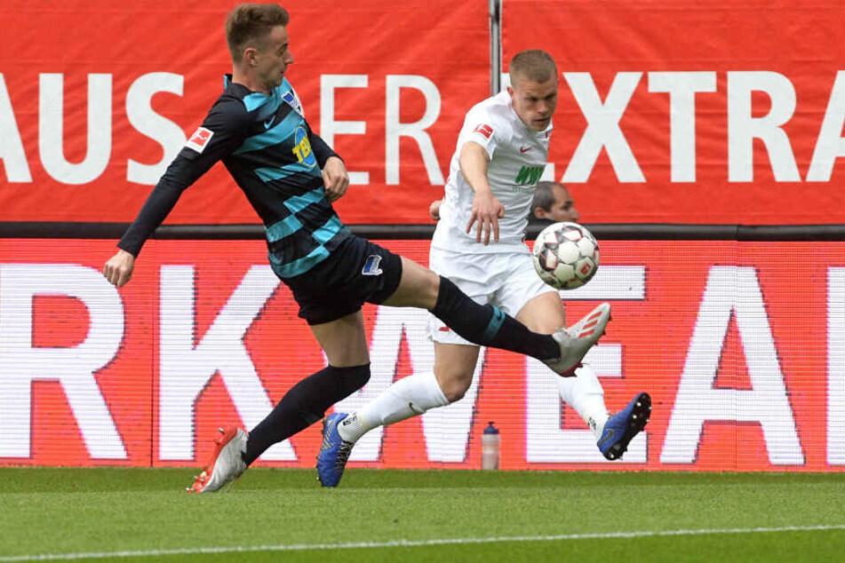 Sieben Tore fielen. Am Ende konnte Hertha den Sieg gegen die Augsburger holen.