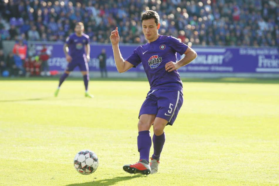 Clemens Fandrich erzielte für Aue das Tor zum 1:1.