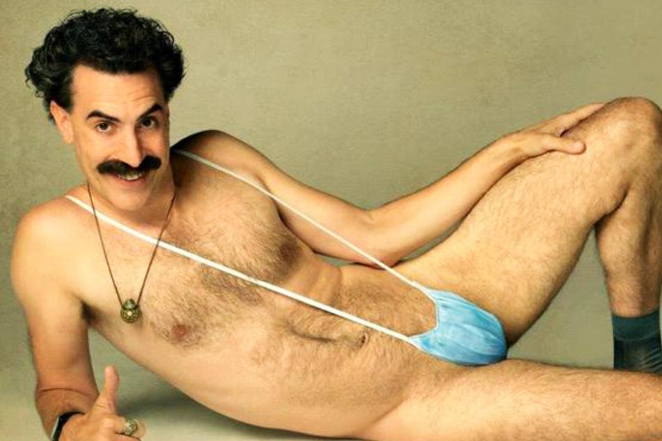 Sacha Baron Cohen (49) als leicht bekleideter Borat in all seiner Pracht.