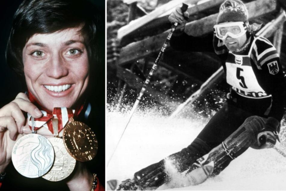 Rosi Mittermaier (li) gewann damals zweimal Gold und einmal Silber.