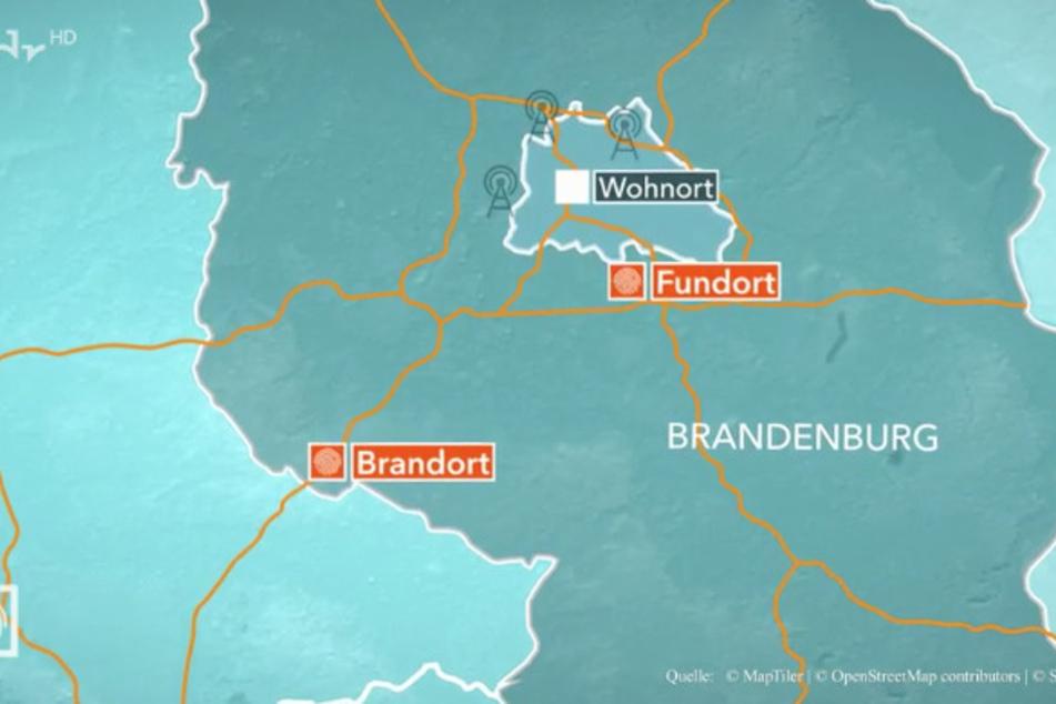 Während die Leiche nahe Okans Heimatstadt Berlin gefunden wurde, brannte sein Auto weit entfernt an der Grenze zu Sachsen-Anhalt aus.