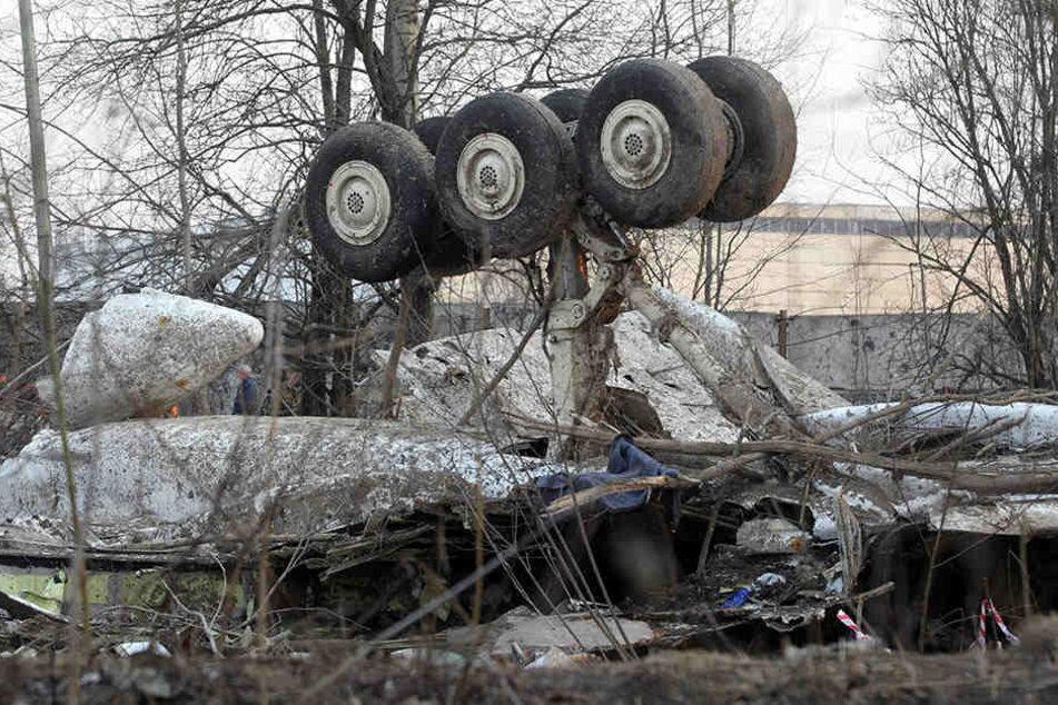 Beim Absturz am 10. April 2010 kamen in dieser Tupolew TU-154 insgesamt 96 Insassen ums Leben.