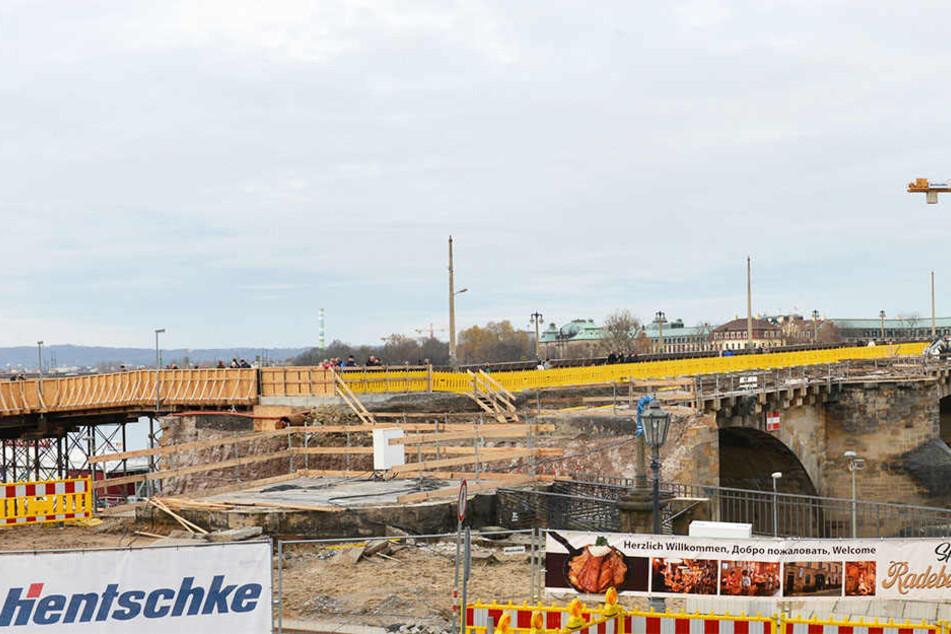 Die Sanierung der Augustusbrücke wird wohl teurer und dauert länger.