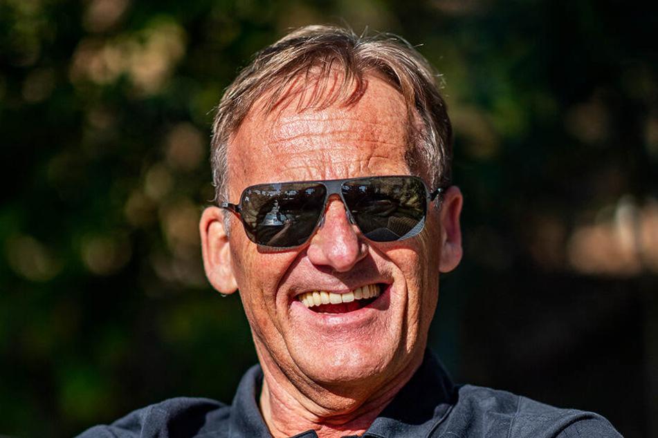BVB-Geschäftsführer Hans-Joachim Watzke genoss die Sonne im Trainingslager in Marbella.