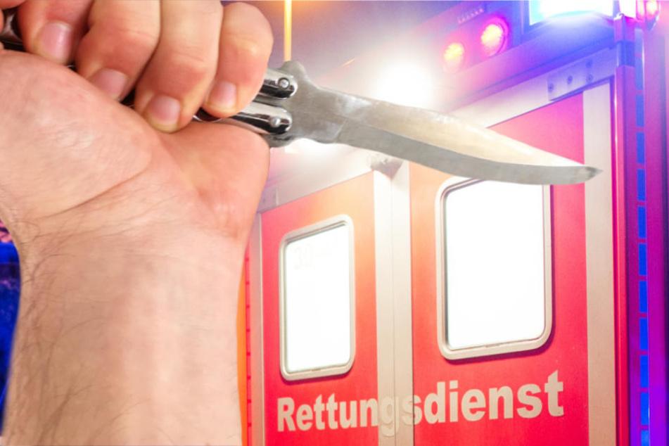Nach der Messer-Attacke kam das Opfer in ein Krankenhaus (Symbolbild).