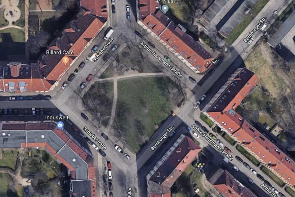 Der Vorfall ereignete sich in dem kleinen Park an der Schiebestraße.