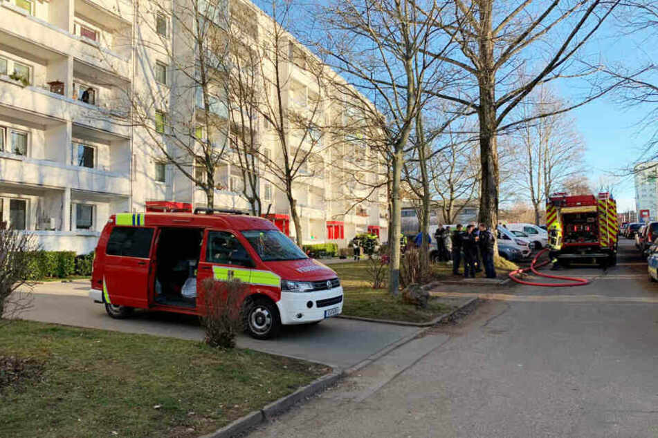 Die Feuerwehr wurde in Chemnitz zur Straße Usti nad Labem alarmiert.