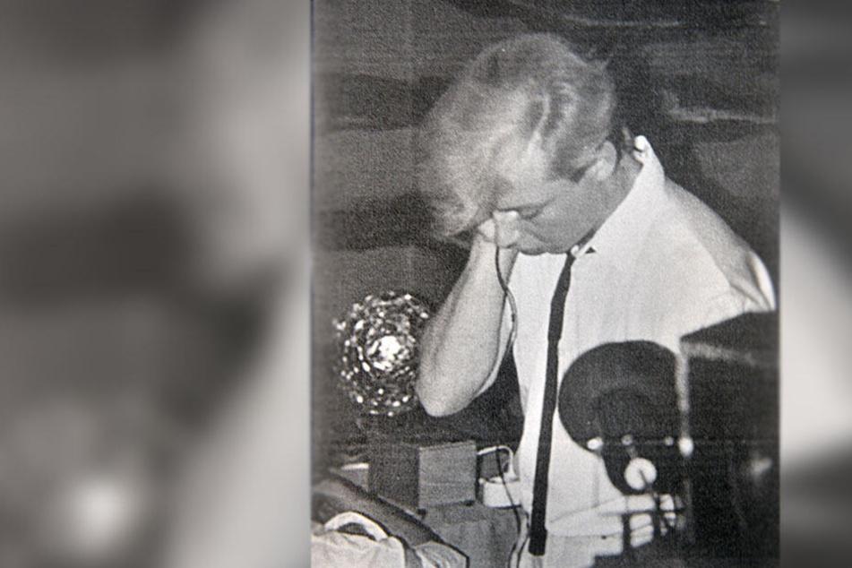 DJ Geyer bei der Arbeit - hier in den 80-er Jahren im Jugendclub Kasch im Flemminggebiet.