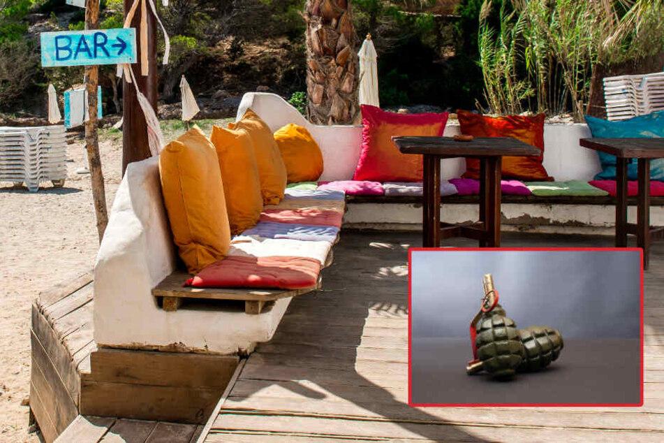Nach dem Fund der Handgranate wurde die Strandbar gleich evakuiert. (Symbolbild)