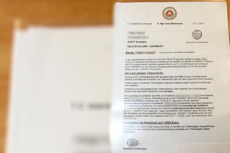 Dresdnerin erhält Haftbefehl aus der Türkei!