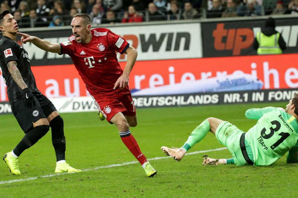Franck Ribéry und der FC Bayern München konnten einen wichtigen Sieg feiern.