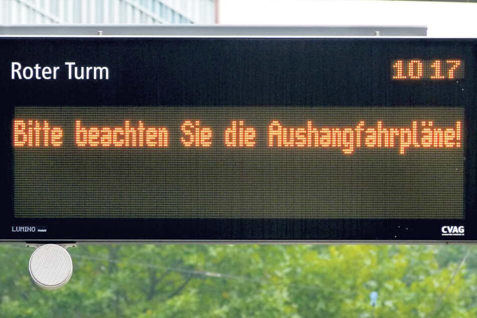 Auch die Straßenbahn hatte keinen Saft mehr, die Linien 4 und 5 konnten nicht  mehr fahren.