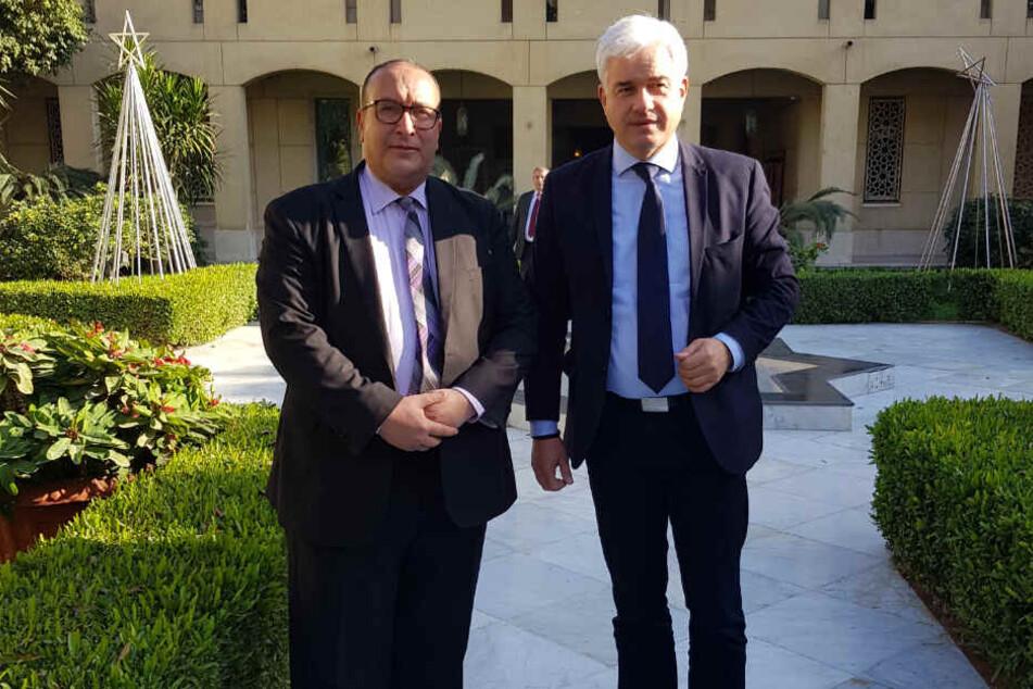 Planen einen Kulturaustausch: Ägyptens Opernchef Magdy Saber (l.) und Ballchef Hans-Joachim Frey.