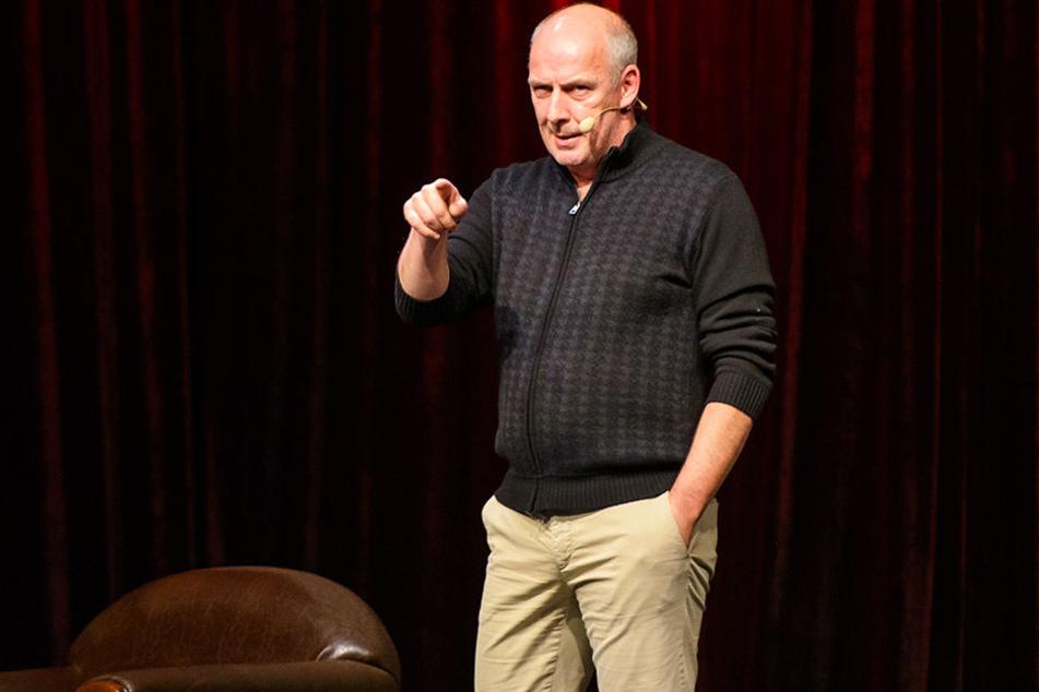 Comedian Mario Basler bei seinem ersten Auftritt in Kaiserslautern.