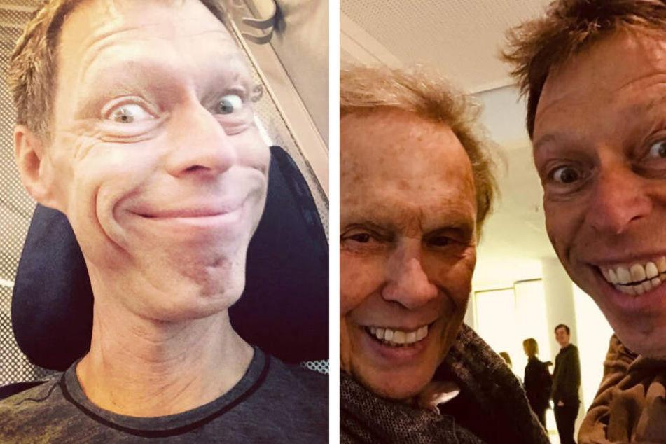 Zufällig in einem Münchner Hotel getroffen: Rock'n'Roller Peter Kraus (li.) und Comedian Martin Schneider (re.).