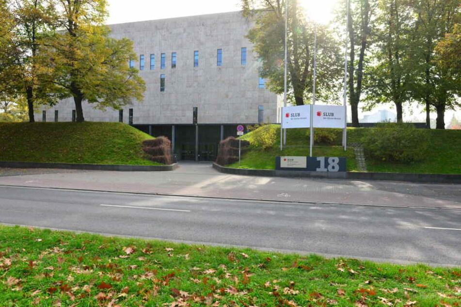 """Der Unbekannte drohte mit einem """"Blutbad"""" im Bereich der SLUB, der Unibibliothek Dresden."""