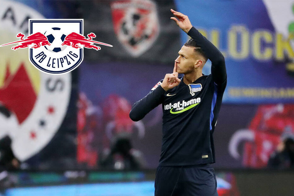 Selke trifft gegen Ex-Klub RB Leipzig und gestikuliert Richtung Bullen-Bank