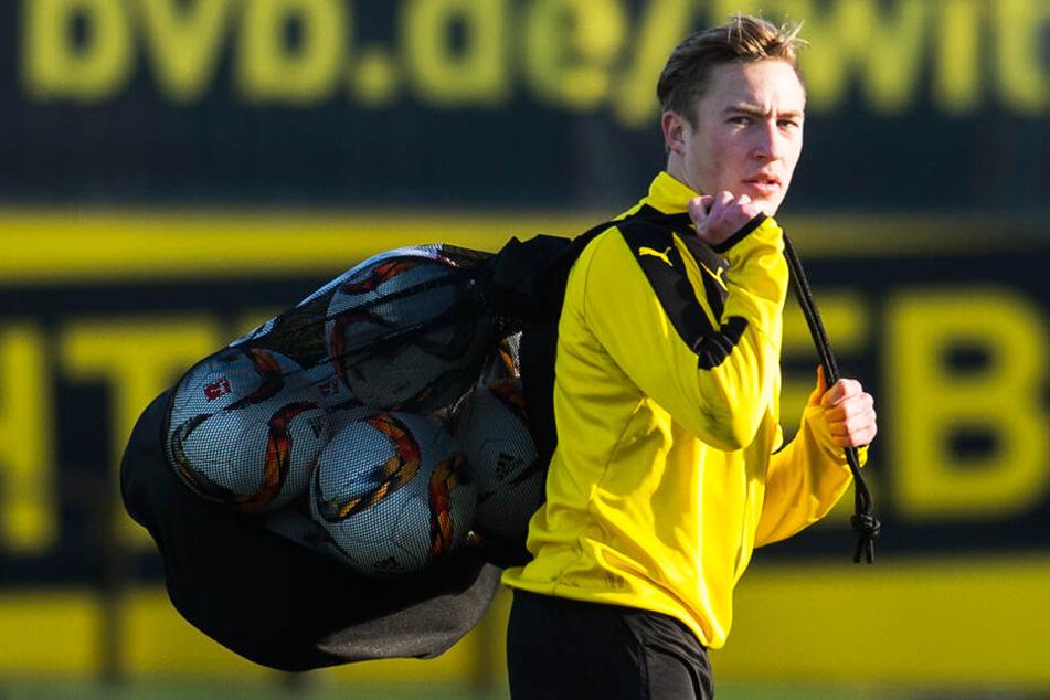 Zuletzt ein gewohntes Bild: BVB-Eigengewächs Felix Passlack im Training, aber nur selten in Pflichtspielen im Einsatz.