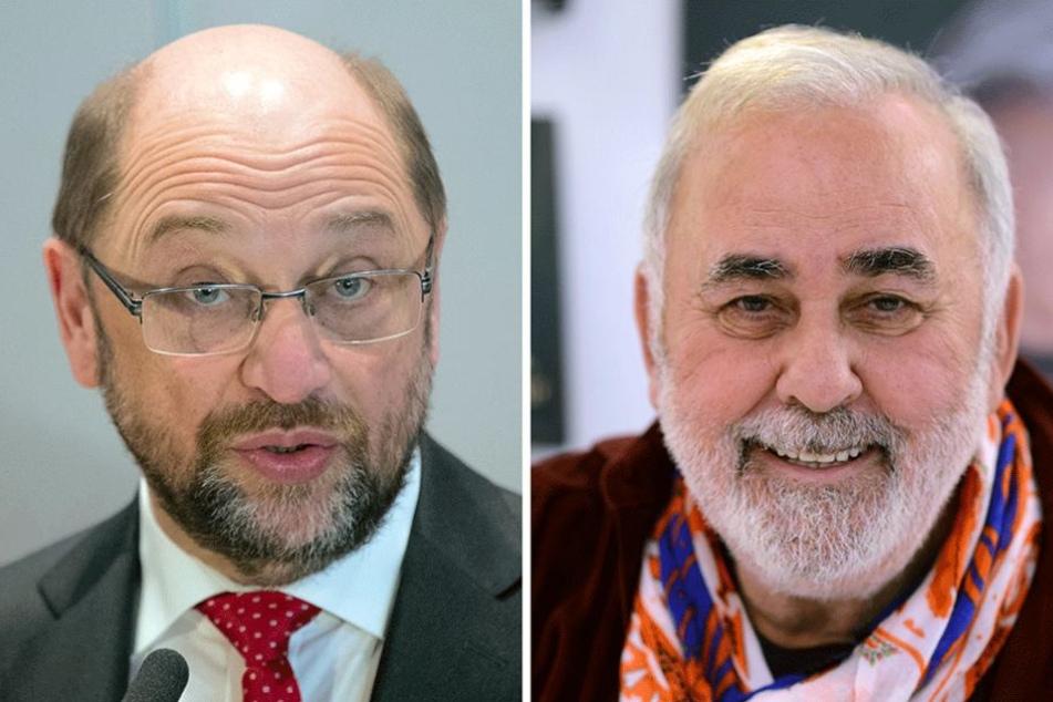 Bartträger Udo Walz (re.) rät Martin Schulz den Bart abzurasieren. Das würde seine Chancen gewählt zu werden steigern.