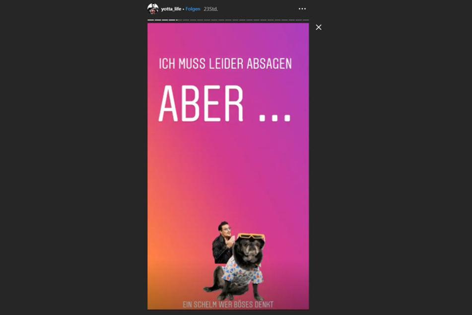 Auf Instagram witzelt Yotta über Töpperwien und seinen Mops.