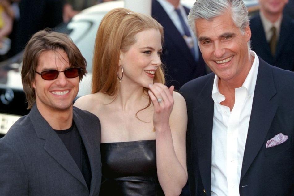 """Ein Bild aus besseren Tagen: Tom Cruise, Nicole Kidman und Sky du Mont (v.l.n.r.) bei der Deutschlandpremiere von """"Eyes Wide Shut""""."""