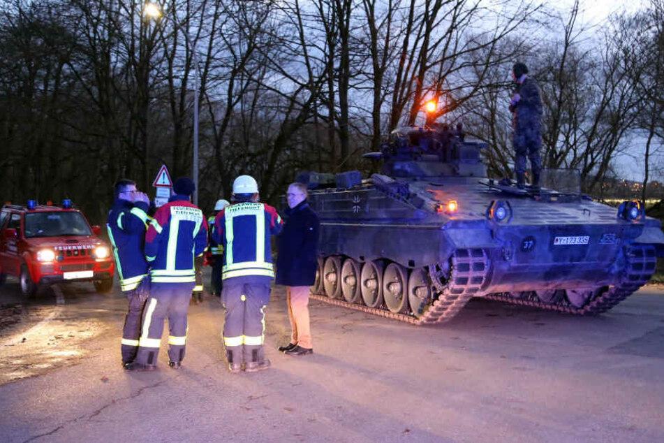 Die Bundeswehr half bei der Bergung des toten Feuerwehrmannes.