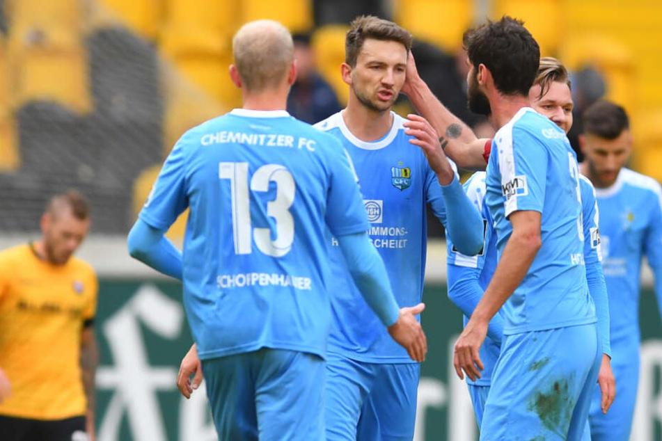 Matti Langer markierte das 1:0 für die Himmelblauen.