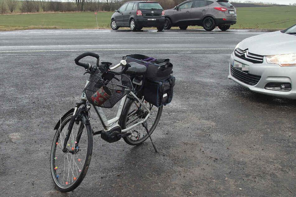 Das Rad wurde von der Polizei mitgenommen.