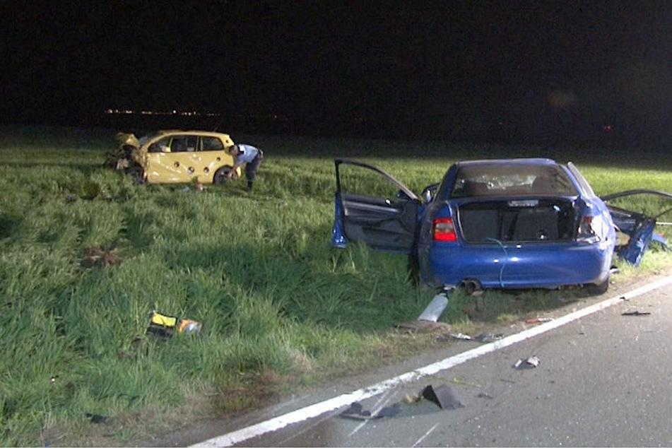 Der 24-Jährige kam mit seinem Audi von der Fahrbahn ab und geriet anschließend in den Gegenverkehr.