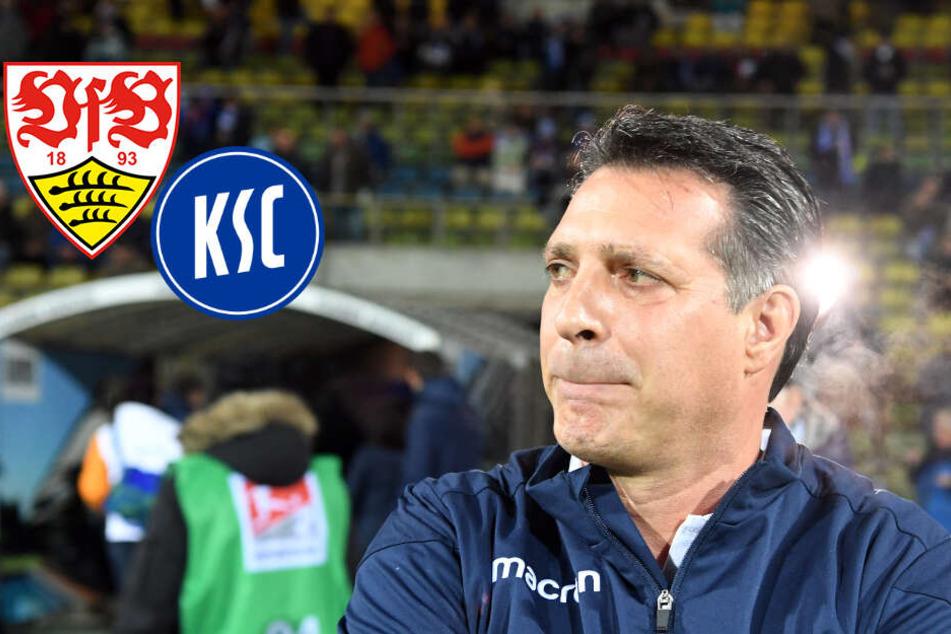 Vor Derby: KSC-Coach hält VfB-Trainer Walter für respektlos