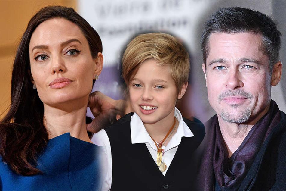 Shiloh Jolie-Pitt (Mi.) gehen die Streiteren zwischen ihren Eltern, Angelina Jolie und Brad Pitt, auf die Nerven.