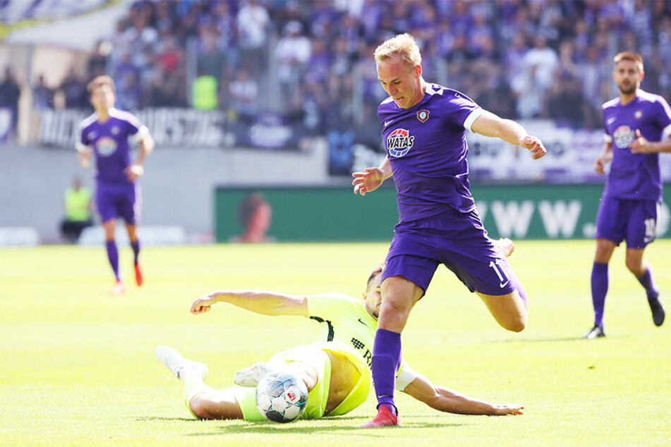 """Florian Krüger wünscht FCE-Trainer Daniel Meyer """"viel Kraft"""" für die kommende Zeit."""