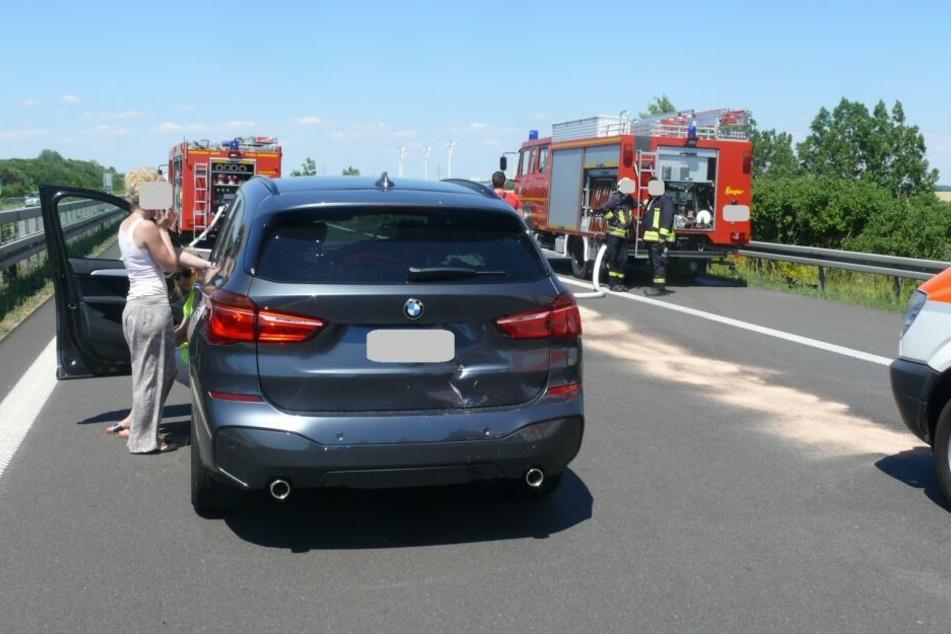 Eine BMW-Fahrerin hatte den Fahrstreifen gewechselt und dabei den Biker übersehen. Die 35-Jährige blieb glücklicherweise unverletzt.