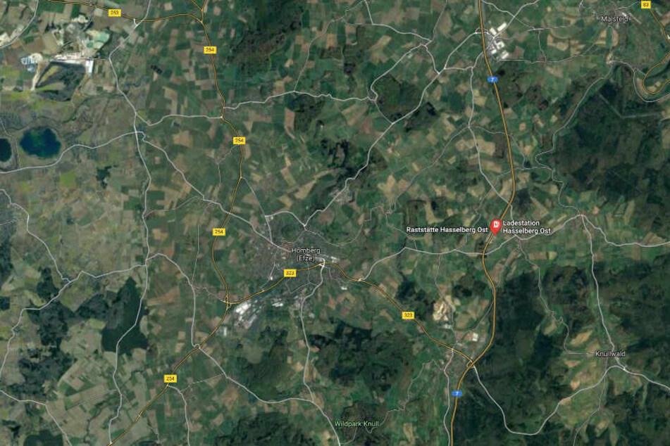 Die Tat ereignete sich am Rasthof Hasselberg-Ost bei Homberg (Efze).