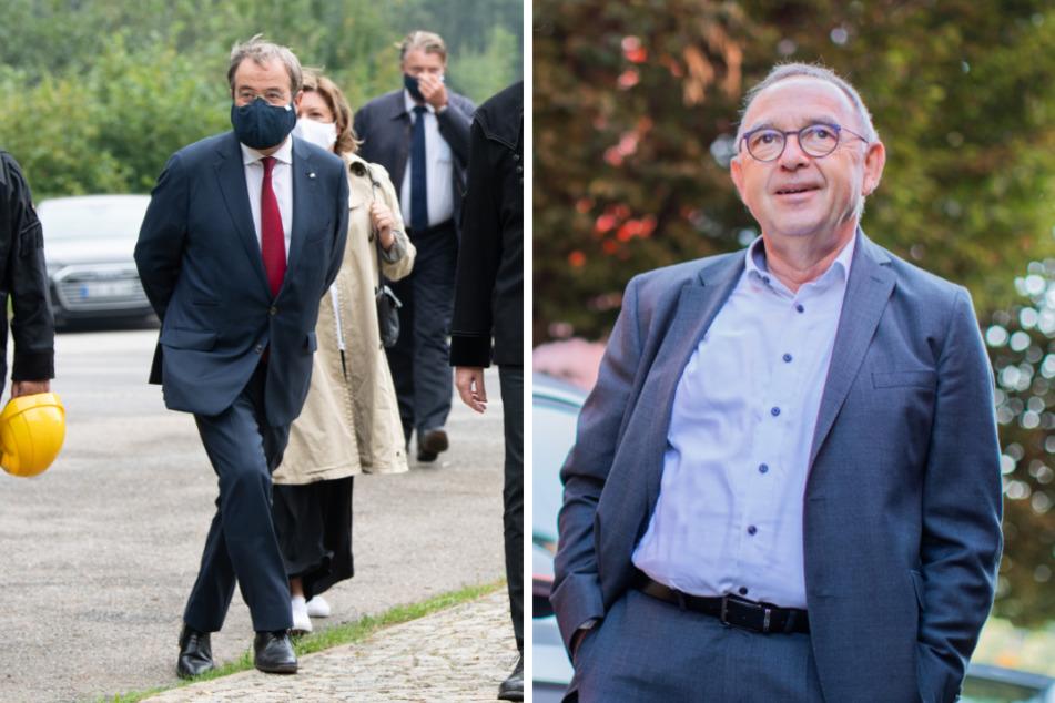 Armin Laschet im Erzgebirgsstadion: Kritik von Walter-Borjans