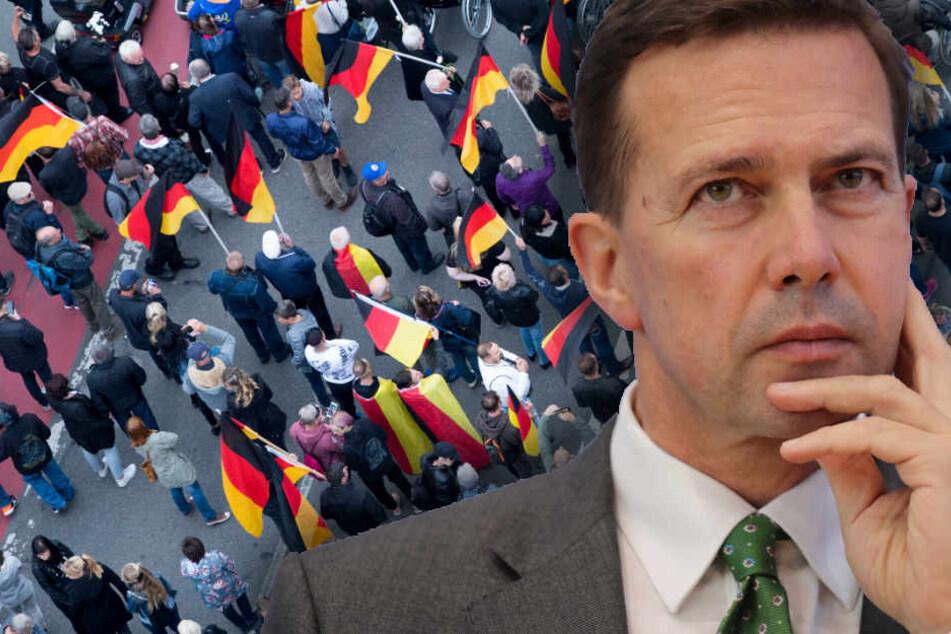 Regierung kritisiert rechte Aufmärsche in Chemnitz scharf