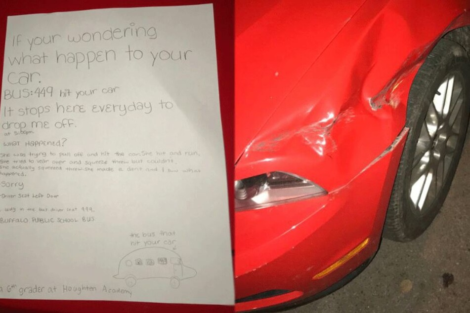 Mann findet mysteriösen Zettel von Schulkind an seinem kaputten Traumauto und hat großes Glück