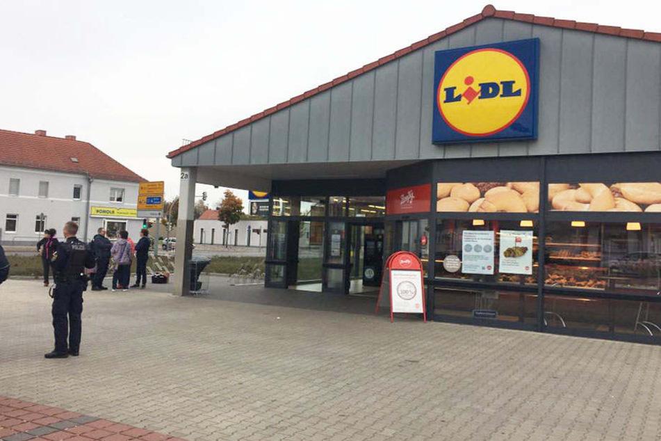 Das Gebiet rund um den Lidl-Markt wurde weiträumig abgesperrt.