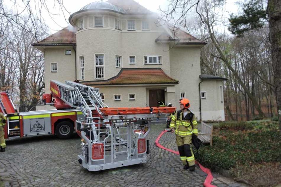 Feuerwehr-Übung in Grimma.