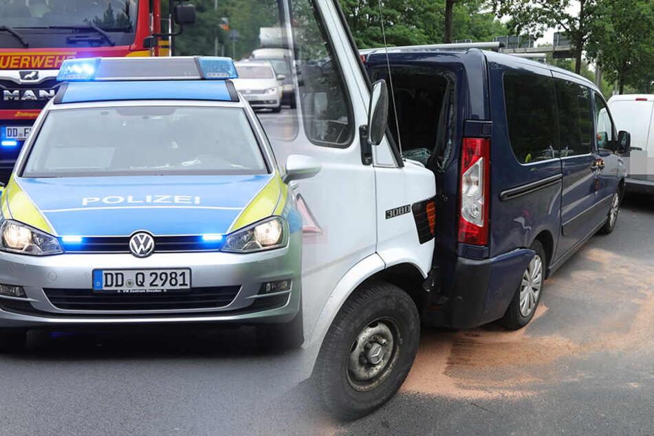 Langer Stau auf Radeburger Straße: Unfall mit 5 Fahrzeugen legt Verkehr lahm