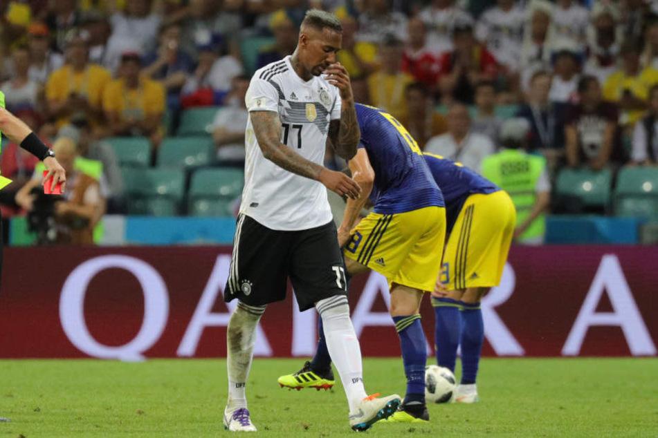 Jerome Boateng musste gegen Schweden mit Gelb-Rot vom Platz.