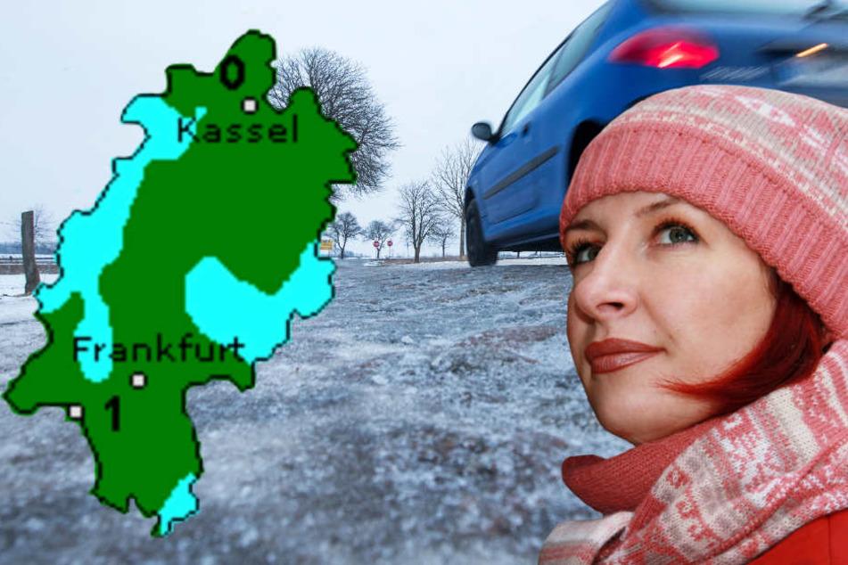 Die Hessen müssen sich auf Frost und glatte Straßen einstellen (Symbolbild, Grafik: Wetteronline.de).