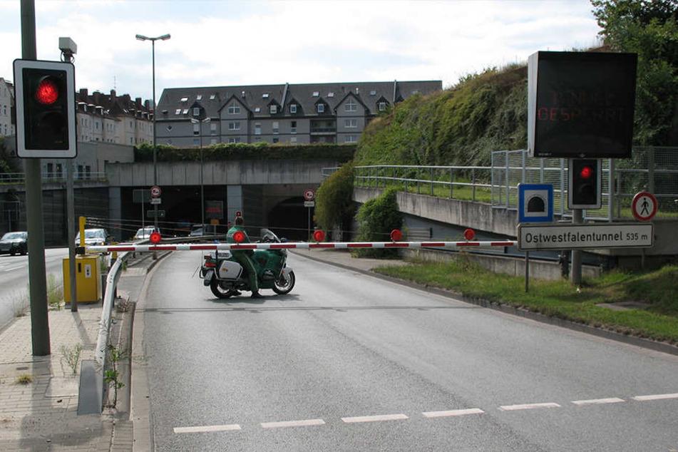 Auch im Februar wird im Tunnel gearbeitet.