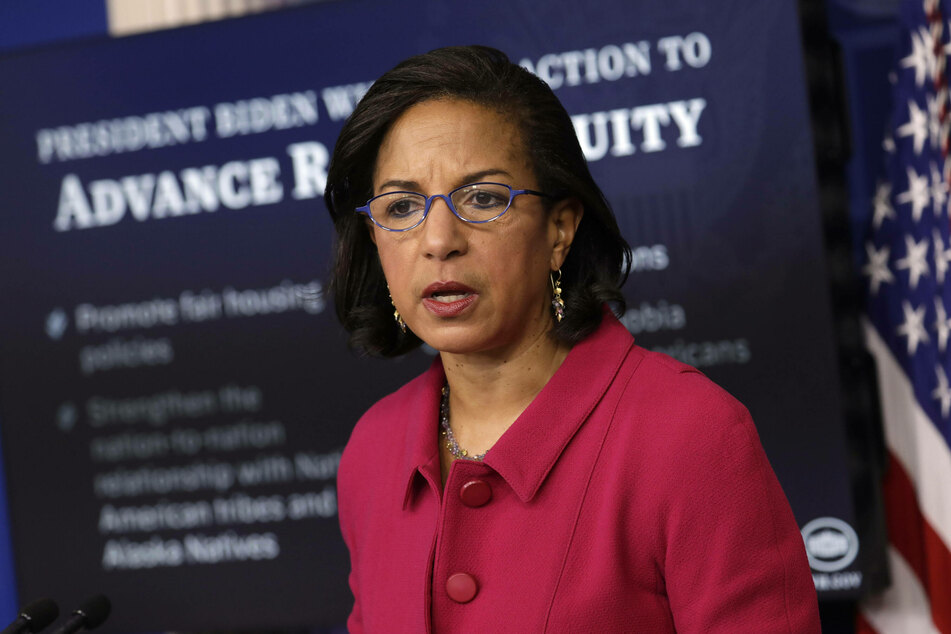 """White House Domestic Policy Advisor Susan Rice says Biden's recent actions were """"just the beginning"""" of his plan to address racial inequity in the United States."""