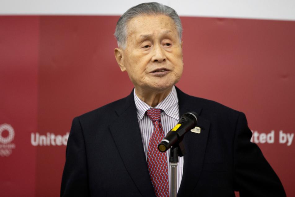 Yoshiro Mori, Präsident des Organisationskomitees für die Olympischen und Paralympischen Spiele in Tokio (TOGOC).