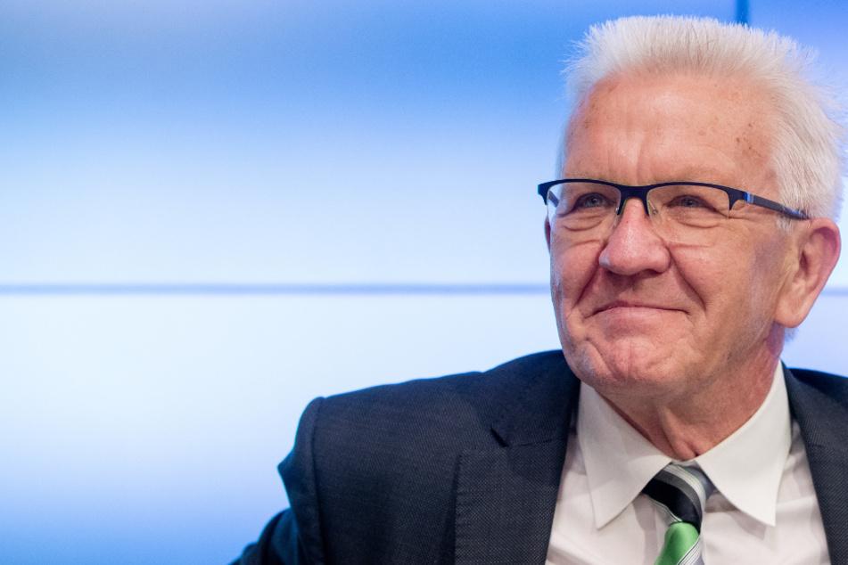 Winfried Kretschmann (72, Grüne), Ministerpräsident von Baden Württemberg.