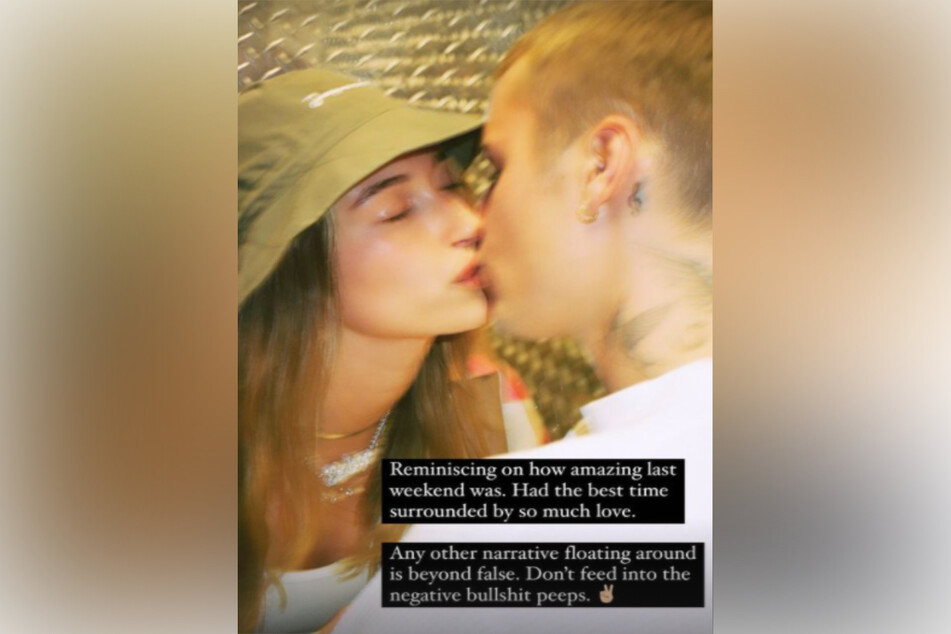 Hailey Bieber told her fans on Wednesday that there was no trouble in paradise between her and Justin.