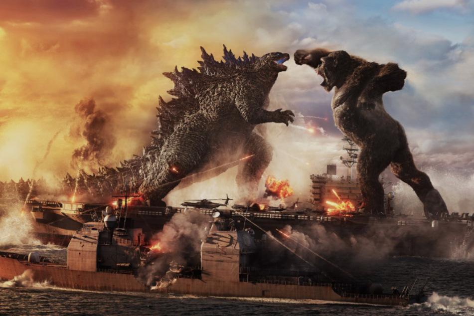 """In """"Godzilla vs. Kong"""" liefern sich die beiden Filmmonster ein episches Duell."""